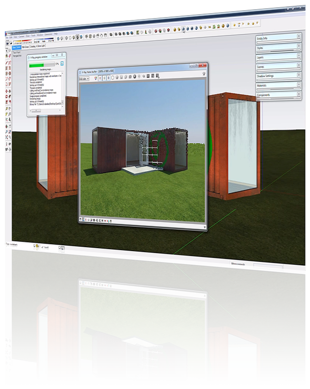 SketchUp PC Local Rendering